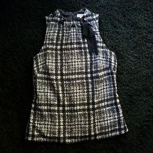 Merona black and white dress top